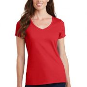 bright red ladies tee
