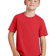 bright red youth tee